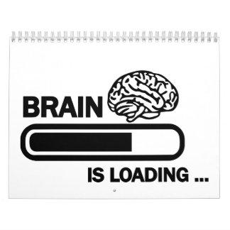 Cargamento del cerebro calendarios de pared