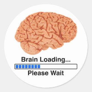 Cargamento del cerebro pegatina