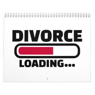 Cargamento del divorcio calendarios