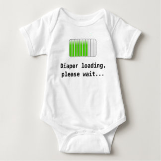 Cargamento del pañal body para bebé