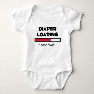 Cargamento del pañal - espere por favor… body para bebé