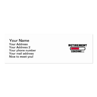 Cargamento del retiro tarjetas de visita mini