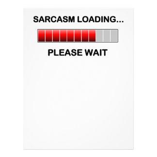 Cargamento del sarcasmo membretes personalizados