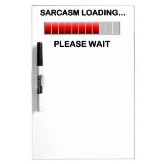 Cargamento del sarcasmo pizarra blanca