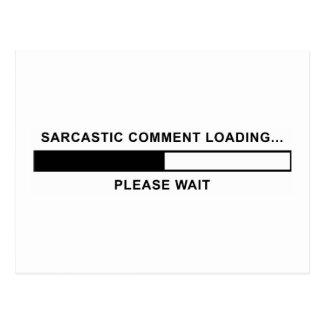 Cargamento sarcástico del comentario postal
