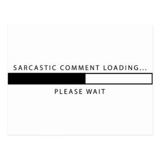 Cargamento sarcástico del comentario tarjeta postal