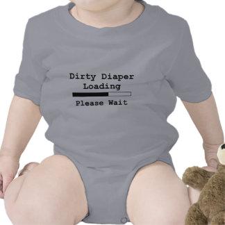 Cargamento sucio del pañal… Espere por favor Camisetas