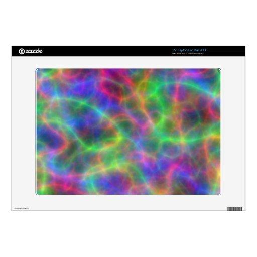 Cargas eléctricas del arco iris de la luz calcomanías para portátiles