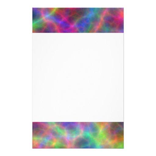 Cargas eléctricas del arco iris de la luz papelería personalizada