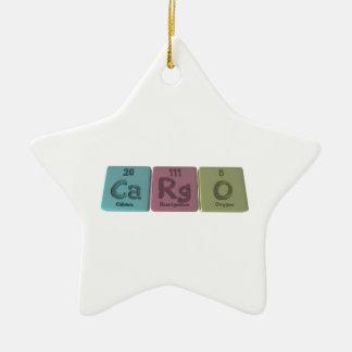 Cargo-Ca-Rg-O-Calcium-Roentgenium-Oxygen.png Ceramic Ornament