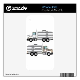 Cargo del líquido del camión de la cisterna iPhone 4S skins