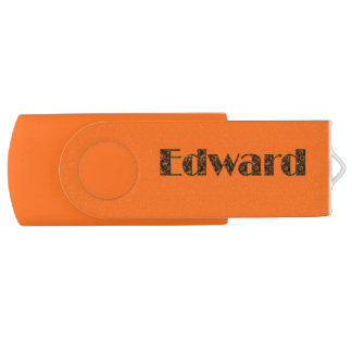 Cargo Freight Truck for Guys Named EDWARD Swivel USB 2.0 Flash Drive