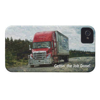 Cargo Hauling Freight Truck Driver's iPhone 4 Case