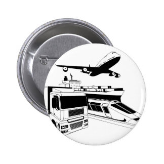Cargo logistics transport illustration pins