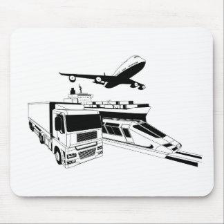 Cargo logistics transport illustration mousepads