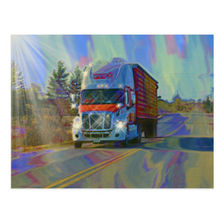 Cargo Lorry Big Rig Truckers Gifts Postcard