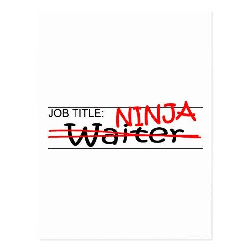 Cargo Ninja - camarero Tarjetas Postales