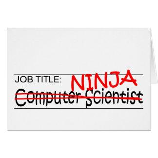 Cargo Ninja - comp Sci Tarjeta De Felicitación