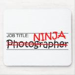 Cargo Ninja - fotógrafo Alfombrillas De Raton