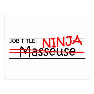 Cargo Ninja - masajista Tarjetas Postales