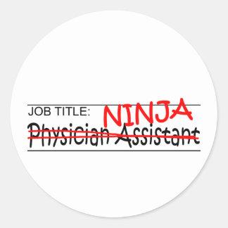 Cargo Ninja - médico Asst Pegatina Redonda