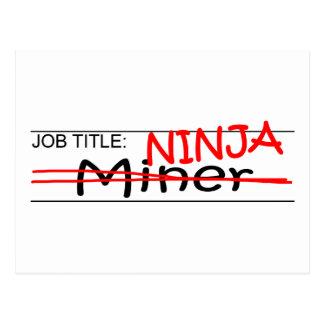 Cargo Ninja - minero Tarjeta Postal