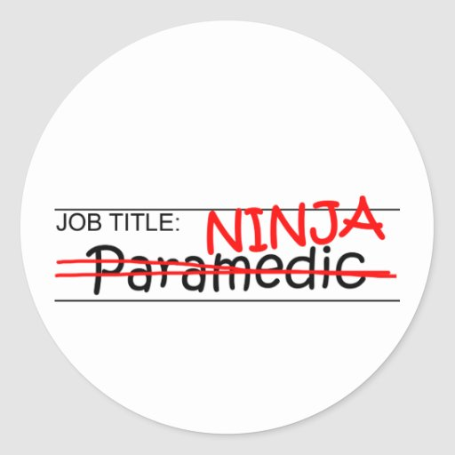 Cargo Ninja - paramédico Pegatina Redonda