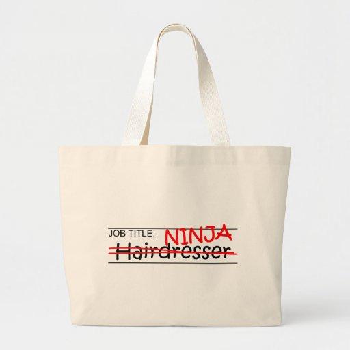 Cargo Ninja - peluquero Bolsa Tela Grande