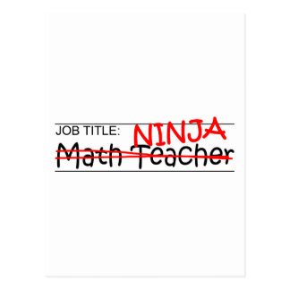 Cargo Ninja - profesor de matemáticas Postales