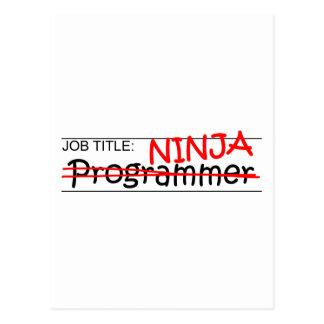 Cargo Ninja - programador Postales
