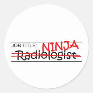 Cargo Ninja - radiólogo Pegatina Redonda