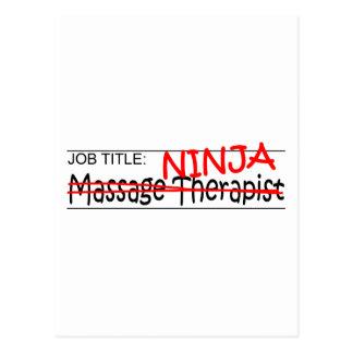 Cargo Ninja - terapeuta del masaje Postales
