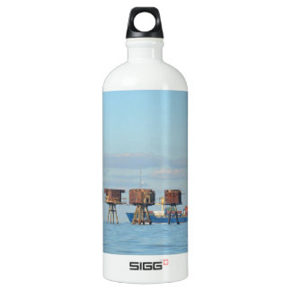 Cargo Ship And Forts Aluminum Water Bottle