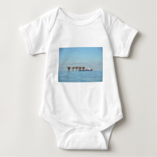 Cargo Ship And Forts Baby Bodysuit