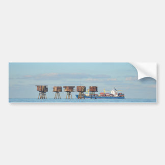 Cargo Ship And Forts Bumper Sticker