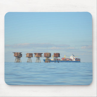 Cargo Ship And Forts Mouse Pad