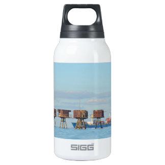 Cargo Ship And Forts Thermos Bottle