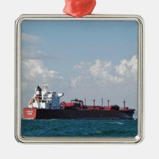 Cargo Ship Clipper Sky Metal Ornament