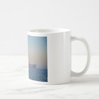 Cargo Ship In A Hazy Dusk Coffee Mug