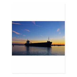 Cargo ship leaving the Swale Postcard