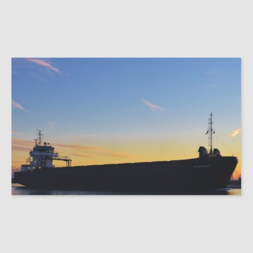 Cargo ship leaving the Swale Sticker