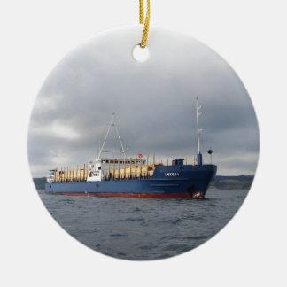 Cargo Ship Lotos 1 Ceramic Ornament