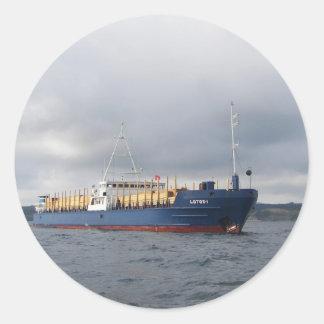 Cargo Ship Lotos 1 Classic Round Sticker
