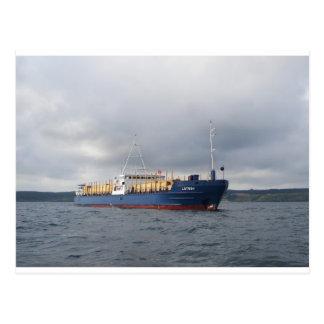 Cargo Ship Lotos 1 Postcard