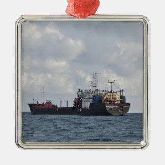 Cargo Ship Mikhail Kuznetsov Metal Ornament