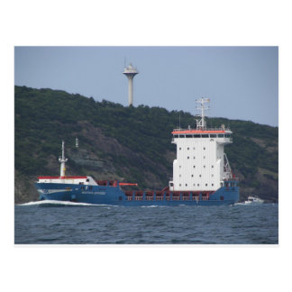 Cargo Ship Mustafa Sofuoglu Postcard