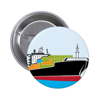 Cargo Ship Pinback Button