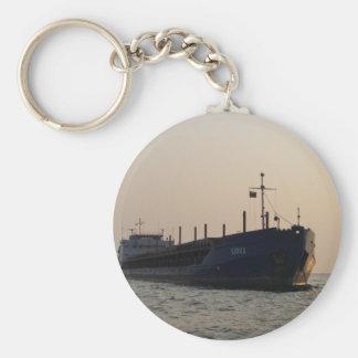 Cargo Ship Sioux Basic Round Button Keychain