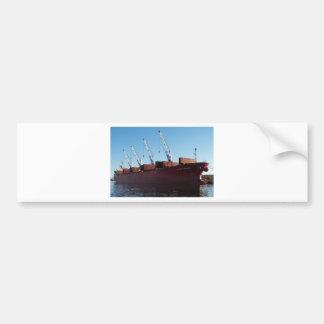 Cargo Ship Stove Trader taking on cargo. Bumper Sticker