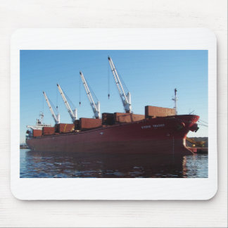Cargo Ship Stove Trader taking on cargo. Mouse Pad